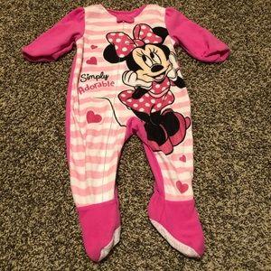 Minnie Mouse footie pajamas 12 months